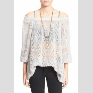 NWOT FREE PEOPLE Lights Will Shine Sweater Grey-L